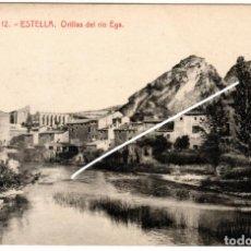 Postales: PRECIOSA POSTAL - ESTELLA (NAVARRA) - ORILLAS DEL RIO EGA - EDICION GARBAYO. Lote 235186580