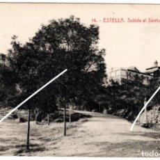 Postales: PRECIOSA POSTAL - ESTELLA (NAVARRA) - SUBIDA AL SANTUARIO PUY - EDICION GARBAYO. Lote 235323140
