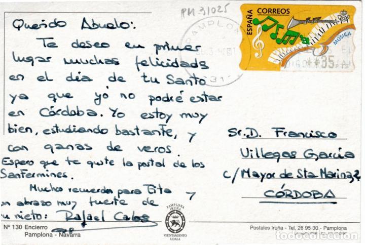 Postales: PRECIOSA POSTAL - PAMPLONA (NAVARRA) - ENCIERRO - Foto 2 - 235850615