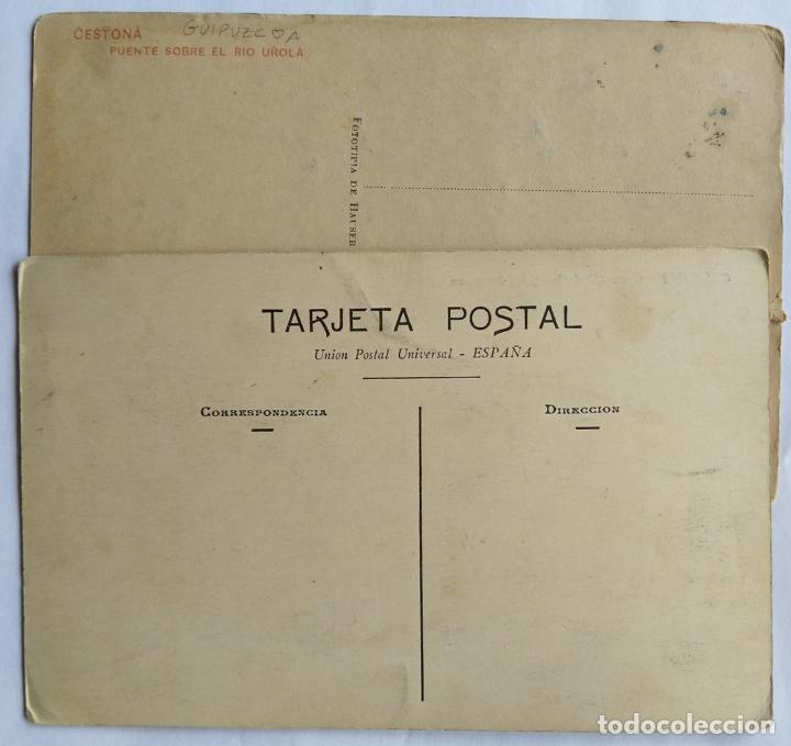 Postales: CESTONA LOTE DE 2 POSTALES - Foto 2 - 236135125