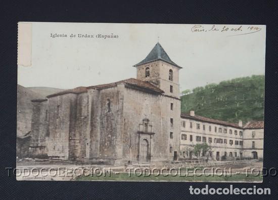 POSTAL URDAX URDAZUBI NAVARRA IGLESIA - CA 1910 (Postales - España - Navarra Antigua (hasta 1.939))