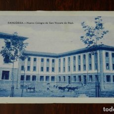 Postales: POSTAL DE SANGUESA. NUEVO COLEGIO DE SAN VICENTE DE PAUL. POSTAL SIN CIRCULAR. Lote 243942915