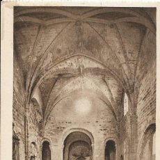 Postales: POSTAL ANTIGUA DE LEYRE. INTERIOR DE LA IGLESIA MONESTARIAL (S.XI). NAVARRA. Lote 244412190