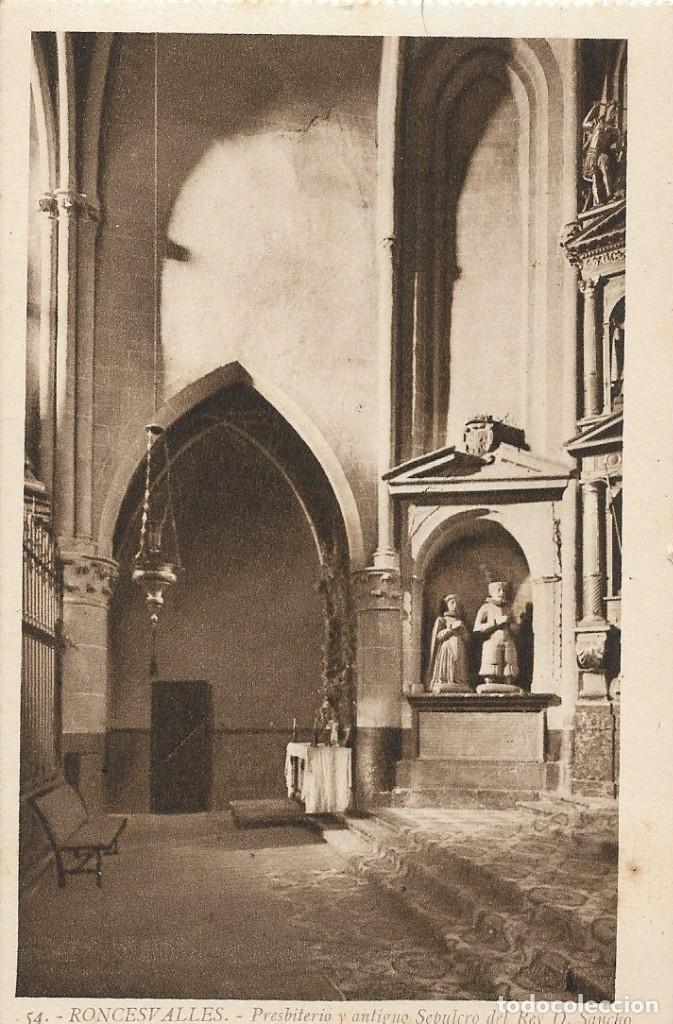 Postales: Lote de 3 postales antiguas de Roncesvalles. Navarra - Foto 3 - 244421945