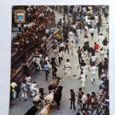 Postales: POSTAL PAMPLONA, FIESTAS DE SAN FERMIN, EL ENCIERRO, AÑOS 70. Lote 245234210
