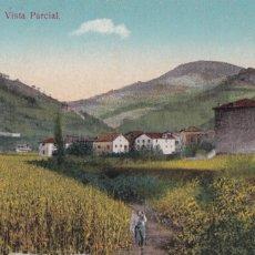 Postales: ECHALAR, VISTA PARCIAL. ED. ANTONIO ECHAIDE, ELIZONDO Nº 1. POSTAL EN BYN COLOREADA. CIRCULADA. Lote 246331790