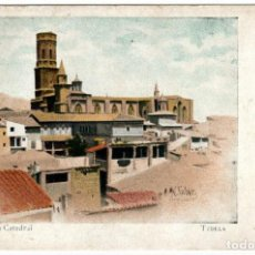 Postales: PRECIOSA POSTAL - TUDELA (NAVARRA) - TORRES DE LA CATEDRAL - LITOGRAFIA M. PUJADAS. Lote 248014960