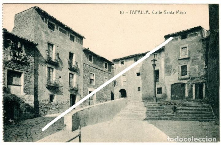 BONITA POSTAL - TAFALLA (NAVARRA) - CALLE SANTA MARIA (Postales - España - Navarra Antigua (hasta 1.939))