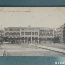 Postales: POSTAL SERIE 1 - Nº 3. PAMPLONA. ESCUELAS MUNICIPALES.. Lote 251904210