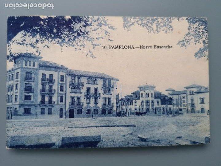 POSTAL PAMPLONA Nº 10 NUEVO ENSANCHE NAVARRA PERFECTA CONSERVACION CIRCULADA 1930 (Postales - España - Navarra Antigua (hasta 1.939))
