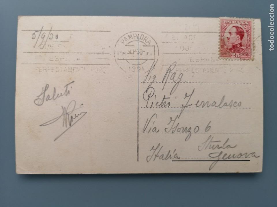 Postales: POSTAL PAMPLONA Nº 10 NUEVO ENSANCHE NAVARRA PERFECTA CONSERVACION CIRCULADA 1930 - Foto 2 - 259215480