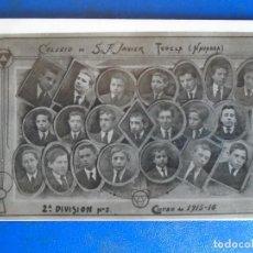 Postales: (PS-65157)POSTAL FOTOGRAFICA DE TUDELA-COLEGIO DE S.FRANCISCO JAVIER.ORLA 1915-16. Lote 261230270