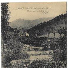 Postales: ELIZONDO - ALREDEDORES. BAZAR MARIN (FOT. MENA). FOTOTIPIA DE HAUSER Y MENET - CIRCULADA 1943. Lote 261930980