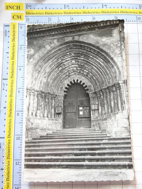 POSTAL DE NAVARRA. AÑOS 30 50. ESTELLA PARROQUIA DE SAN PEDRO PORTADA. 5 GARBAYO. 880 (Postales - España - Navarra Antigua (hasta 1.939))