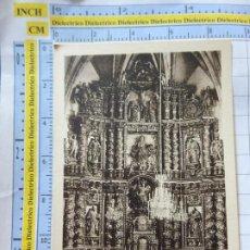 Postales: POSTAL DE NAVARRA. AÑOS 30 50. OÑATE, ALTAR MAYOR DE LA PARROQUIA. 9 UGARTE. 885. Lote 262076825