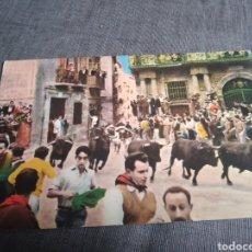Postales: POSTAL COLOREADA SAN FERMINES PAMPLONA. Lote 262099335