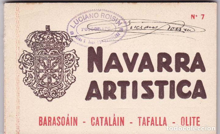NAVARRA ARTISTICA, BARASOÁIN CATALÁIN TAFALLA OLITE. BLOC COMPLETO CON 20 POSTALES. ED. ROISIN (Postales - España - Navarra Antigua (hasta 1.939))