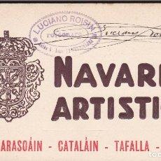 Postales: NAVARRA ARTISTICA, BARASOÁIN CATALÁIN TAFALLA OLITE. BLOC COMPLETO CON 20 POSTALES. ED. ROISIN. Lote 262133860