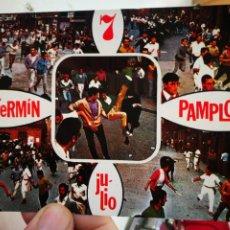 Cartes Postales: POSTAL PAMPLONA ENCIERRO DE LOS TOROS N 6931 POSTALES VAQUERO 1972 ESCRITA Y SELLADA. Lote 262391980
