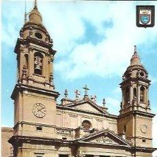 Postales: POSTAL A COLOR IMAGENES ESCUDO DE ORO PRIMERA COLECCION DE CATEDRALES Nº 10 PAMPLONA FACHADA CATEDRA. Lote 262503270