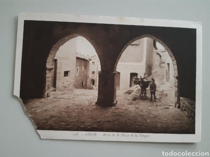 TARJETA POSTAL AIBAR NAVARRA ARCOS DE LAS PLAZA DE LA VIRGEN EDITA L ROISIN (Postales - España - Navarra Antigua (hasta 1.939))