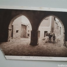 Postales: TARJETA POSTAL AIBAR NAVARRA ARCOS DE LAS PLAZA DE LA VIRGEN EDITA L ROISIN. Lote 262552695