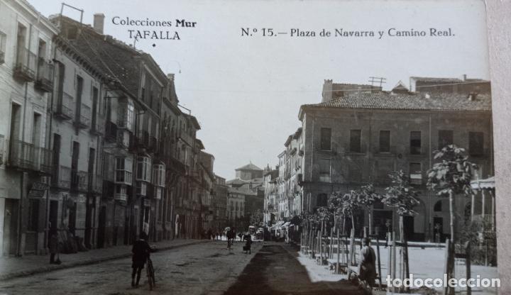 TAFALLA, NAVARRA, FOTOGRAFICA, PLAZA DE NAVARRA Y CAMINO REAL, COLECCION MUR Nº 15 (Postales - España - Navarra Antigua (hasta 1.939))