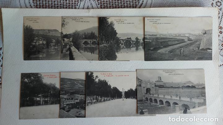T- 793.- LOTE DE -- 8 -- POSTALES DE -- PAMPLONA -- DIVERSOS LUGARES DE LA POBLACION-- VER FOTOS (Postales - España - Navarra Antigua (hasta 1.939))