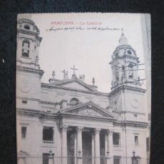 Postales: PAMPLONA-LA CATEDRAL-POSTAL ANTIGUA-(81.605). Lote 268762429