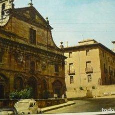 Postales: POSTAL TAFALLA.-IGLESIA RECOLETOS Y CASA DEL CONDE ESCRITA. Lote 268884564