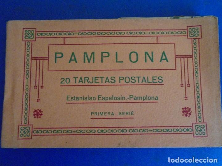 (PS-65721)BLOCK DE 20 POSTALES DE PAMPLONA-PRIMERA SERIE.ESTANISLAO ESPELOSIN (Postales - España - Navarra Antigua (hasta 1.939))