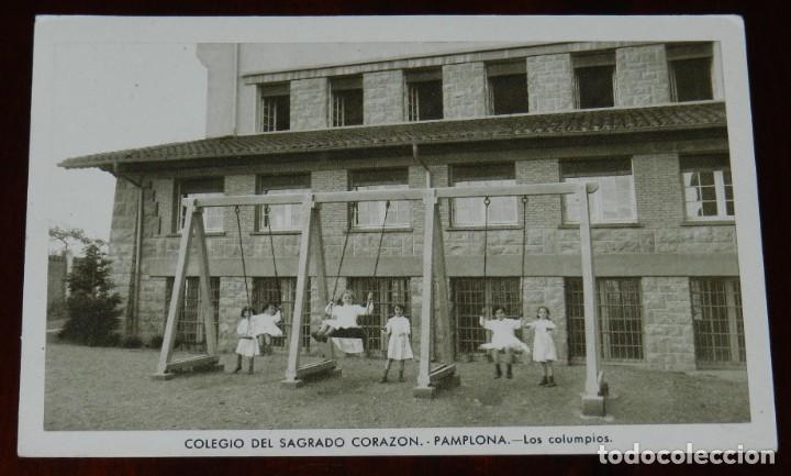 POSTAL DEL COLEGIO DEL SAGRADO CORAZON. PAMPLONA. LOS COLUMPIOS. ED. HUECOGRABADO MUMBRU, NO CIRCULA (Postales - España - Navarra Antigua (hasta 1.939))