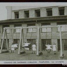 Postales: POSTAL DEL COLEGIO DEL SAGRADO CORAZON. PAMPLONA. LOS COLUMPIOS. ED. HUECOGRABADO MUMBRU, NO CIRCULA. Lote 269416663