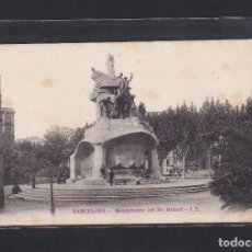 Postales: POSTAL DE ESPAÑA - BARCELONA - MONUMENTO DEL DR. ROBERT - CATALUÑA, CATALUNYA. Lote 269709843