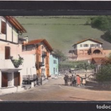 Postales: POSTAL DE ESPAÑA - VALCARLOS II PUENTE INTERNACIONAL Y ESCUELAS DE PECOCHETA - NAVARRA, PAMPLONA. Lote 269712573