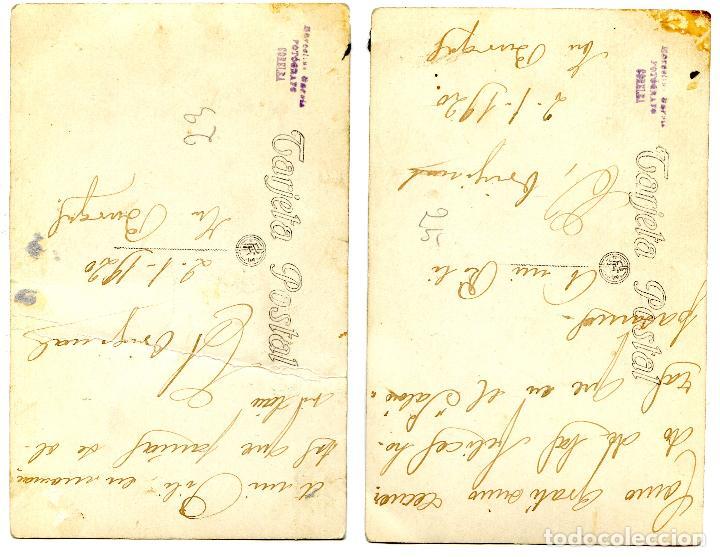 Postales: Dos fotopostales de un actor amateur ?. Fotógrafo Marcelino García, Corella, Navarra, 1920 - Foto 2 - 269773533