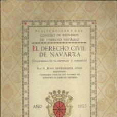 Postales: NAVARRA.EL DERECHO CIVIL DE NAVARRA. PAMPLONA 1955, 40 PÁG.. Lote 270402373