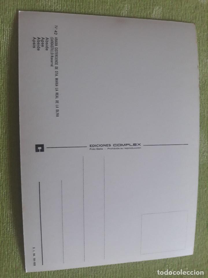 Postales: ABADIA CISTERCIENSE DE STA. MARIA REAL DE LA OLIVA - CARCASTILLO - VIRGEN DE OLIVA - Foto 2 - 271778143