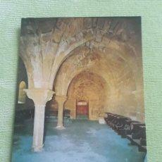 Postales: ABADIA CISTERCIENSE DE STA. MARIA REAL DE LA OLIVA - CARCASTILLO - COMEDOR DE CONVERSOS. Lote 271778803