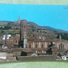 Postales: TUDELA (NAVARRA) - CATEDRAL SIGLO XII - AL FONDO SAGRADO CORAZÓN DE JESÚS. Lote 271782558