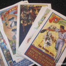 Postales: PAMPLONA-SAN FERMIN-COLECCION DE 21 REPRODUCCIONES CARTELES TAMAÑO POSTAL-VER FOTOS-(82.307). Lote 273999758