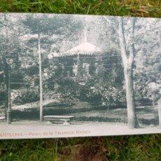 Postales: PAMPLONA PASEO DE LA TACONERA KIOSKO EDICION ESTANISLAO ESPELOSIN. Lote 276644583