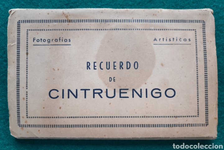 CINTRUÉNIGO POSTAL FOTOGRÁFICA BLOC RECUERDO NAVARRA ED. ARRIBAS 1950 (Postales - España - Navarra Moderna (desde 1.940))