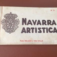 Postales: NAVARRA ARTÍSTICA 9. COMPLETO. SIN CIRCULAR. Lote 277426083