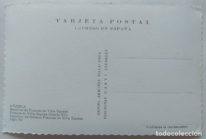 Postales: TUDELA SEPULCRO DE FRANCES DE VILLA ESPESA - Foto 2 - 277573983