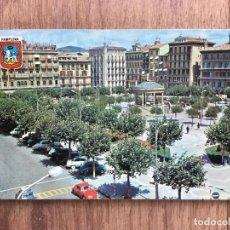 Postales: POSTAL DE PAMPLONA PLAZA DEL CASTILLO ( AÑOS 60/70 ). Lote 277730113