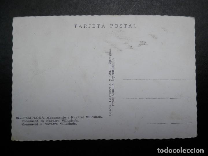 Postales: PAMPLONA NAVARRA MONUMENTO A NAVARRO VILLOSLADA POSTAL ANTIGUA EDICIONES GARCÍA GARRABELLA - Foto 2 - 278382878