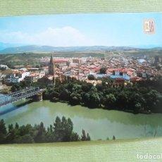 Postales: SANGÜESA - NAVARRA - VISTA PANORÁMICA, CON EL RÍO ARAGÓN Y SIERRA DE LEYRE. Lote 278447138