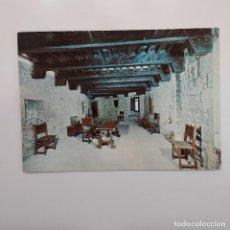 Postales: POSTAL CASTILLO DE JAVIER. SALA PRINCIPAL (NAVARRA) 1964 CIRCULADA. LITOGRAFIA DEL NORTE. Lote 279421708
