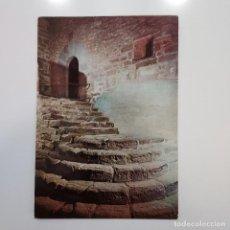 Postales: POSTAL CASTILLO DE JAVIER. ANTIGUA ESCALERA (NAVARRA) CIRCULADA 1964. LITOGRAFIA DEL NORTE. Lote 279422538